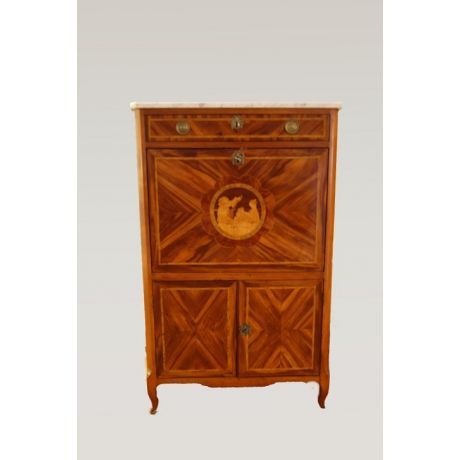 Antico secretaire francese del 1700 intarsiato in Bois de rose